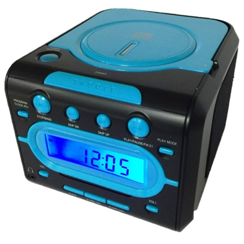 KS-811A PLL AM/FM stereo dual alarm clock with top loading CD player
