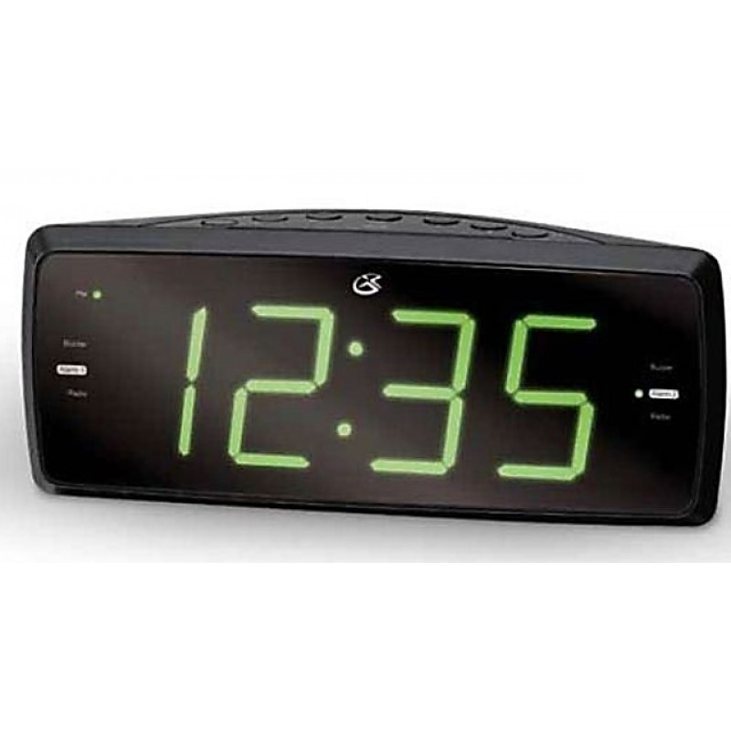 KS-353 Dual Alarm Clock with AM/FM Radio