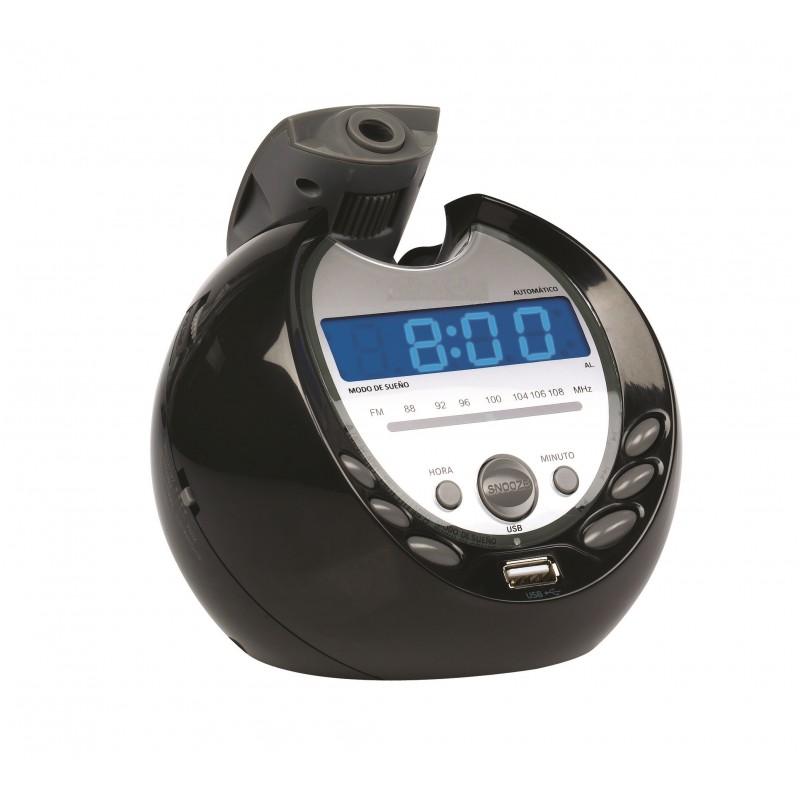 KS-733 FM Alarm clock radio with projector