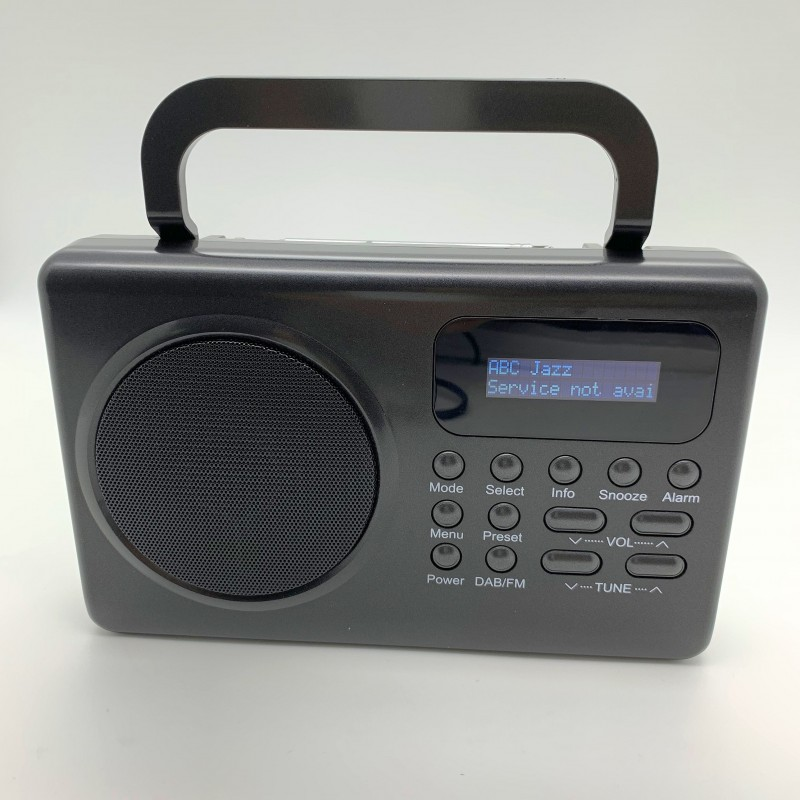 KS-33DAB Portable DAB Radio with Alarm Clock