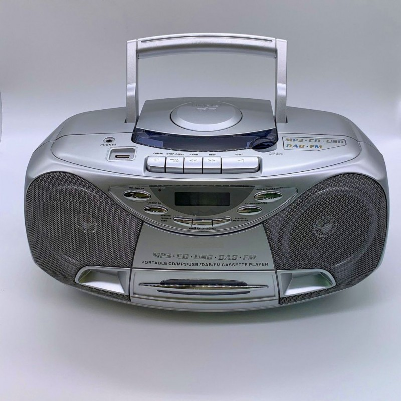 KS-878DAB Portable CD/MP3/DAB & Cassette Player with USB and PLL FM radio