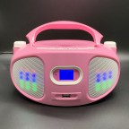 KS-709A Portable Party Speaker /Karaoke CD Boombox with Bluetooth