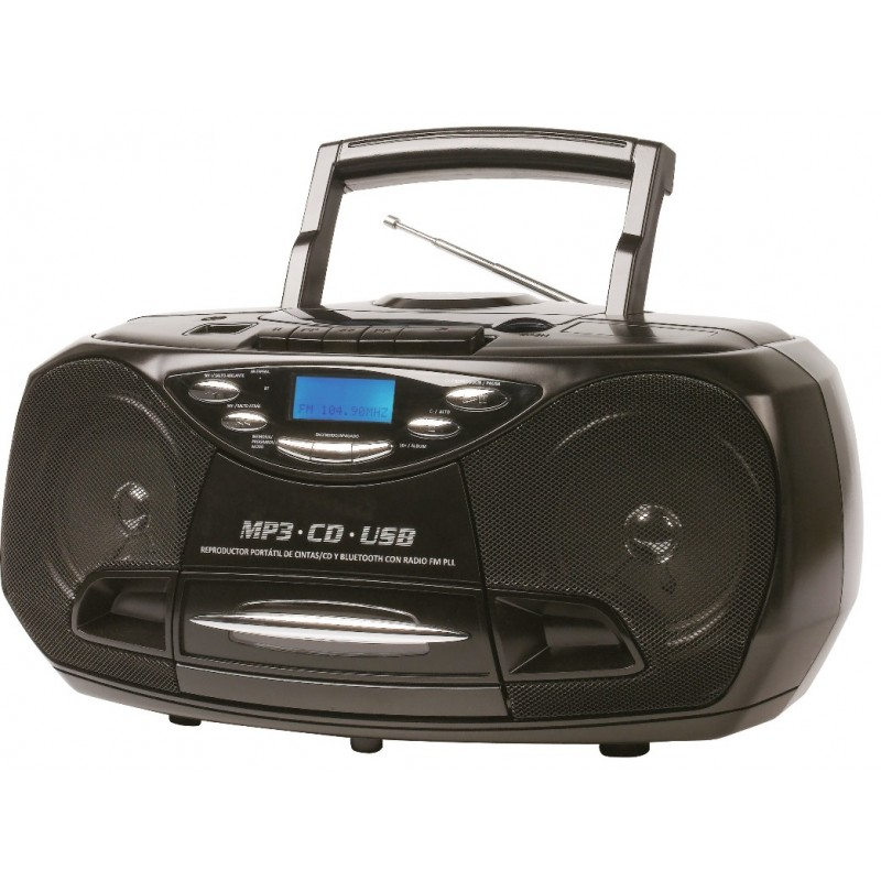 KS-878 Portable CD/MP3 & Cassette Player with USB and PLL FM radio