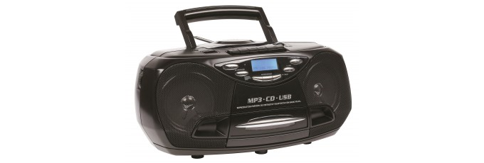 Portable CD/MP3 & Cassette Player with USB and PLL FM radio